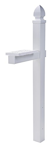 Gibraltar Mailboxes Whitley 4x4 Rust-Proof Plastic White,  Cross-Arm Mailbox Post, WP000W01 (Center Mount Post)