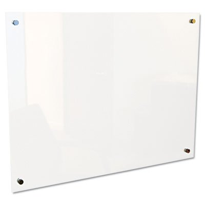Enlighten Glass Board, Frameless, Frosted Pearl, 48'' x 36'' x 1/8, Sold as 1 Each by Generic