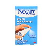 Nexcare Nexcare No Sting Liquid Bandage Spray, 0.61 oz (Pack of 4)