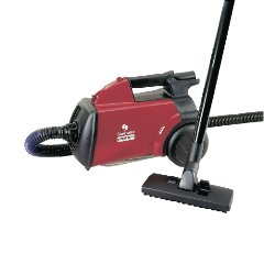 EUR3683 - Compact Commercial Canister Vacuum, 10 Lbs, Red
