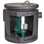 Sewage System, 1/2HP, Piggy-Back Switch by Zoeller