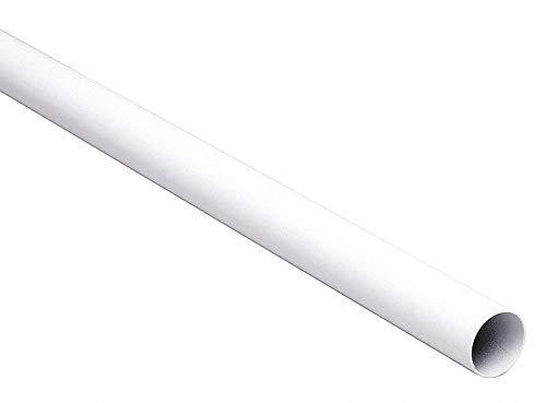 Knape & Vogt John Sterling 0015-8WT Heavy Duty Closet Pole Rod, 96-Inch, White