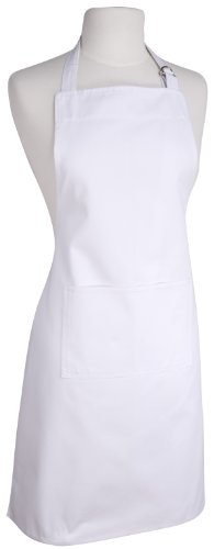 Now Designs Basic Cotton Kitchen Chef's Apron, White