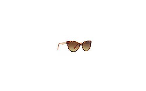 Versace Women's VE4338 Havana/Orange/Brown Gradient - Sunglasses Orange Havana