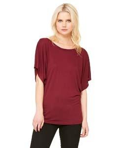 Bella womens Flowy Draped Sleeve Dolman (Easy Fitted T-shirt)