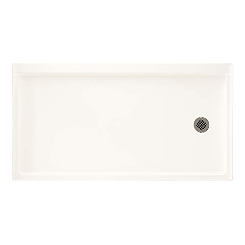 Swan FR-3260R-137 Veritek Alcove Shower Base with Right-Hand Drain Bright White