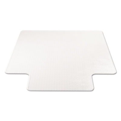 (deflecto CM14233 Beveled Clear 45x53 w/Lip Medium Pile Carpet SuperMat Frequent Use Chair)