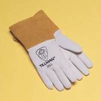 (John Tillman and Co 24CS Kidskin Premium Grade TIG Welders Glove with Kevlar Stitching, Straight Thumb and 4 Cuff, Small, Pearl Gray by John Tillman and)