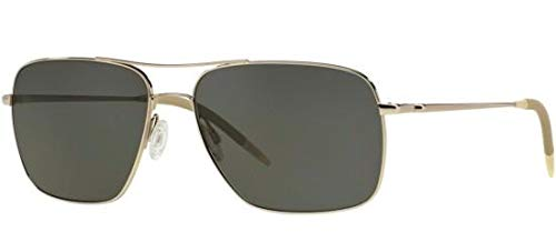 Oliver Peoples Clifton OV1150 Silver w/Gray Polar Lenses (Sunglasses Peoples Oliver)