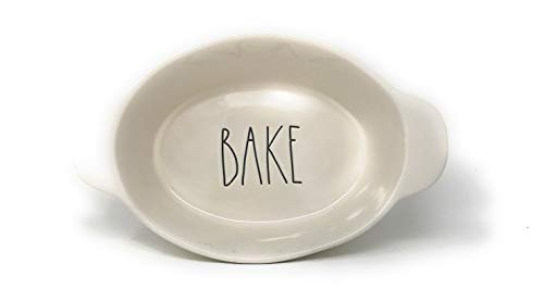 (Rae Dunn By Magenta LL Oval 'Bake' Dish with Handles )