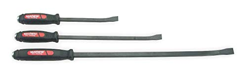 """Dominator 12"""", 17"""", 25"""" Hardened and Tempered Steel Curved Pry Bar Set; Number of Pieces: 3-61355"""
