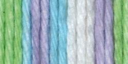 Handicrafter Cotton Stripes (Bernat Handicrafter Cotton Stripes Yarn - (4) Medium Gauge 100% Cotton - 1.5gr - Violet   -  Machine Wash & Dry)