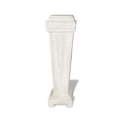 Amedeo Design ResinStone 1900-8L French Base Pedestal, 12 by 12 by 40-Inch, Limestone