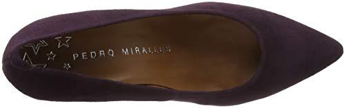 Zapatos Pedro para Mornat Cerrada Mujer con de Morado 24751 Tacón Morado MIRALLES Punta E8FRr7E