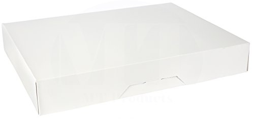 15'' Length x 11.5'' Width x 2.25'' Height White Kraft Paperboard Auto-Popup 1-Piece Donut Bakery Box by MT Products (Pack of 15) by MT Products