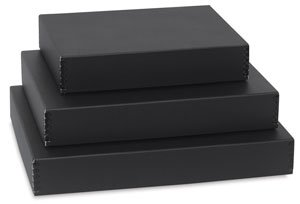 Lineco Museum Archival Drop-Front Storage Box, Acid-Free with Metal Edges, 11.5 X 18 X 3 inches, Black (733-2017)