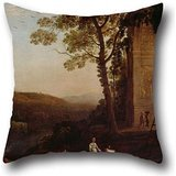 Pillowcase Of Oil Painting Claude - Gathering Grapes 16 X 16 Inch / 40 By 40 Cm,best Fit For Club,kids Boys,floor,home,valentine,christmas Each Side