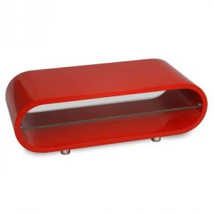 best seller laque aux bords arrondis rouge meuble tvtable basse meuble - Meuble Tele Rouge Laque
