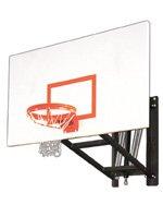 最初チームwallmonster Excelスチール調節可能な壁マウントバスケットボールsystem44 ;ゴールド B01HC0D390