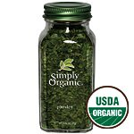 Simply Organic Parsley Flakes Cut & Sifted ORGANIC 0.26 oz bottle (a)