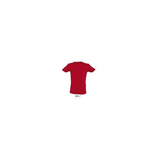Sols - T-Shirt 'Master' mit V-Ausschnitt / Red, M