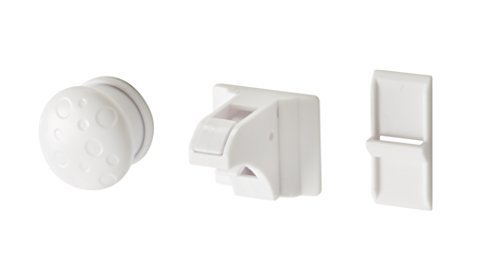 Parent Units Action Latch Magentic Drawer and Dorr Cabinet Latch, White, 4 Pack by Parent Units