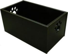 Pet Toy Box Antique Black (Box Rubber Dog Toy)