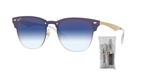 Blue Rb3576n Gradient Gold Sunglasses Clubmaster Ray Mirror Blaze ban clear Brushed fq1f58