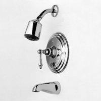 Single Handle Tub and Shower Valve Trim Kit with Single Fun, Satin Nickel (15s Single Handle Tub)