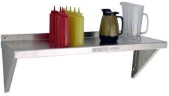 Newage Industrial 1127 Solid Aluminum Wall Shelf, 12'' Diameter x 60'' Length, Regular 18 gal