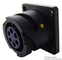 Flange Mount Receptacle Circular Connector CIRH Series Rear Panel Mounted 6 Contacts
