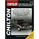 Chrysler Front Wheel Drive Cars 4-Cyl 1981-95 Repair Manual, Part No. 20382, Includes Wiring and Vacuum Diagrams;