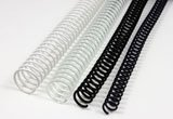 36 Plastic Spiral Binding Coils, 8mm, Black, Box of 100 by Unknown