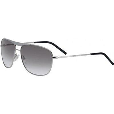 Giorgio Armani 886/S Men's Aviator Full Rim Sports Sunglasses - Palladium/Gray Gradient / Size ()