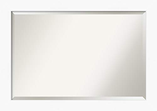Amanti Art Framed Vanity Mirror | Bathroom Mirrors for Wall | Cabinet - Small Bathroom White Framed Mirrors