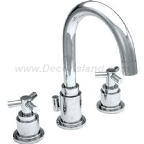 Westbrass 8'' High Arc Widespread Lavatory Faucet in Satin Nickel, 3201XT-07