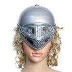 Halloween Costume Gladiator Helmet (White) (Halloween Gladiator Accessories)