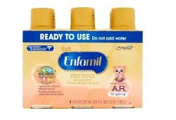 Enfamil A.R. for Spit-Up Baby Formula - Ready to Feed - 8 fl