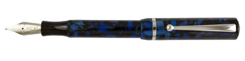 Edison Beaumont Sapphire Flake with 18K Gold Nib Broad Point Fountain Pen - ED-BEAU-SF-18B