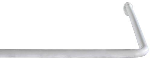 WENKO 19214100 Winkelstange Universal Weiß, Aluminium, Weiß