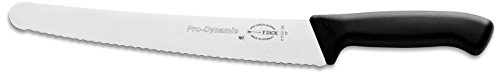 F. Dick Prodynamic 10'' Curved Serrated Utility Knife - Use As Bread And Sandwich Knife - Works Well As Pastry Knife And As A Meat Slicer - German Made High-Carbon Stainless Steel Blade