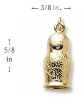 Rembrandt Charms, Matryoshka, 14K Yellow Gold by Rembrandt Charms (Image #1)
