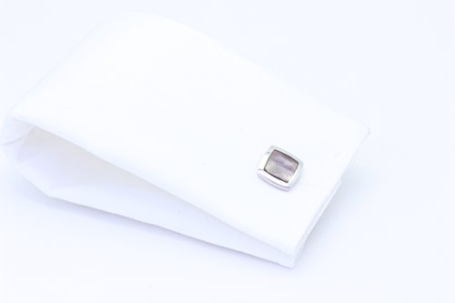 Zsamuel Mens Sterling Silver Black Mother of Pearl Square Cufflinks by Z.Samuel (Image #4)