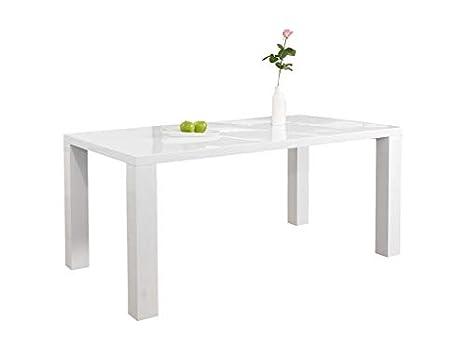 Tisch Weiß Eckig.Ess Tisch Weiß Hochglanz Aus Mdf 120x80cm Recht Eckig Luca Moderner Küchen Tisch Aus Mdf Holz Weiss Vierfußtisch Hochglanz Weiß Lackiert