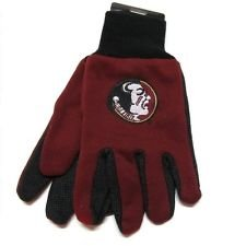 NCAA Florida State Seminoles Two-Tone Gloves, Red/Black