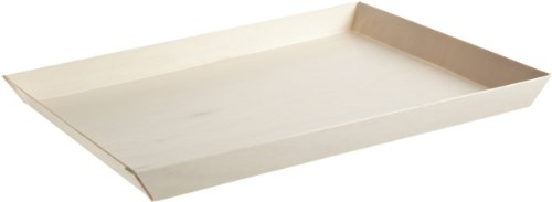 "PackNWood 210SAMBQ274 ""Samurai'' Rectangular Wooden Tray - 10.7 x 14.9 x 1.1"" - 100 per case by PacknWood"