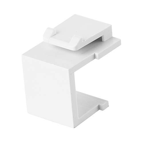 - LINKOMM (20 Pack) Multimedia Blank Keystone Jack Insert, White