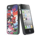 iSkin Happy Friend Case for iPhone 4/4S - Retail Packaging - Black ()