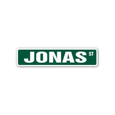 JONAS Street Sticker Sign name childrens room door gift kid child boy girl wall entry - Sticker Graphic Personalized Custom Sticker Graphic: Automotive