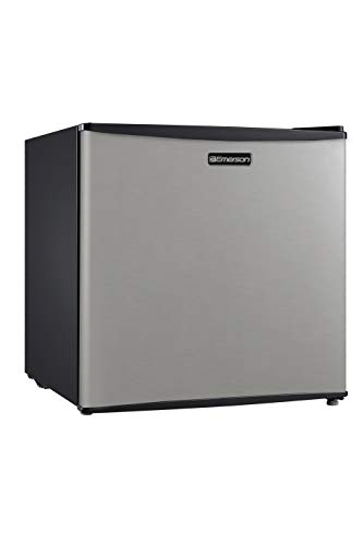 Emerson CR160BSSE 1.6-Cubic Foot Compact Single Door Refrigerator, Stainless Steel